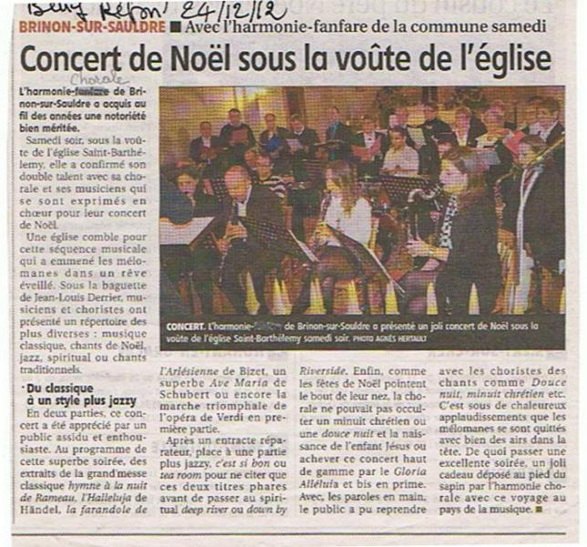 Le Berry - Concert Harmonie Chorale de Brinon Noel 2012